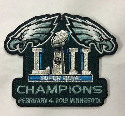 Super Bowl 52 Champions Philadelphia Eagles Iron-On Patch