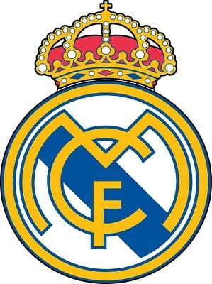 Real Madrid FC Logo Die Cut Vinyl Decal Sticker Soccer Spanish La Liga Sticker