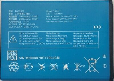 Replacement Battery for Alcatel IdealXcite  CAMEOX 5044R TLi020F1 2050mAh