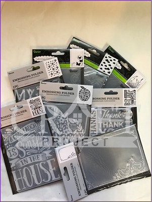 CLEARANCED - NEW 2019 Designs-Darice Embossing Folders - ALL BRAND NEW