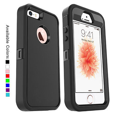 For Apple iPhone SE 5s 5 Case w Screen Protector Series Fits Defender Belt Clip