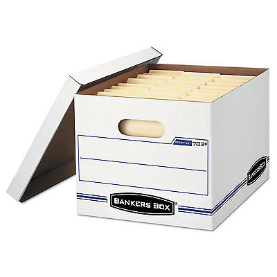 Bankers Box StorFile Storage Box LetterLegal Lift-Off Lid White 6Pack 5703604