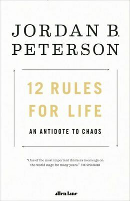 12 Rules for Life  An Antidote to Chaos by Jordan Peterson 2018 Paperback