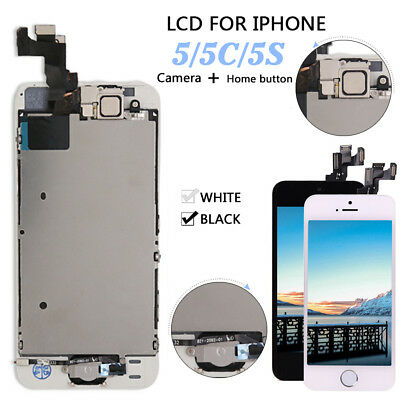 OEM Apple iPhone 5 5C 5S Touch Screen LCD Digitizer Replacement - Button- Camera