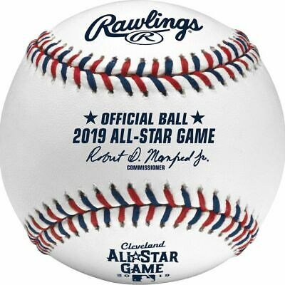 3 Rawlings 2019 All Star Game MLB Game Baseball Cleveland Indians Boxed
