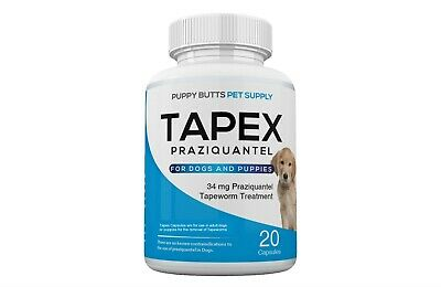 Tapex Dewormer 20 Capsules Tapeworm for Dogs 1 Dose Works in 24 Hours