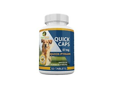 50 Tablets Quick Caps Flea Killer For DOGS 25- 125 Lbs- 57 Mg Quick Results