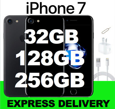 NEW iPhone 7 BLACK JET BLACK 32GB 128GB 256GB UNLOCKED