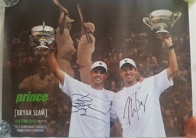 Bryan Brothers Autographed Poster Wimbledon