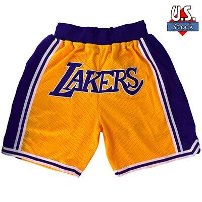 LAKERS Basketball Team Shorts Lebron James Summer League Size S-XXL Ins Style US