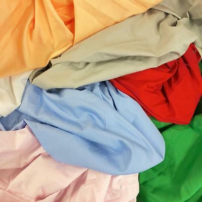 100 Cotton Broadcloth Fabric 59 Wide Solid Colors Apparel Garment Per Yard