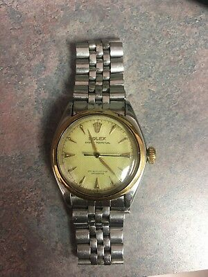 Genuine Rolex Vintage Gents Oyster Perpetual - 6084 - All Original - Box - Tags
