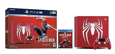 Authentic- PlayStation 4 Pro 1TB Spider Man Limited Edition Console