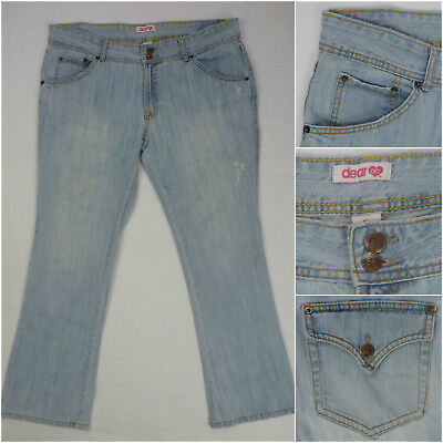 Dear AB Womens Jeans Amanda Bynes Button Flap Pocket Straight Leg 16 36x29-5