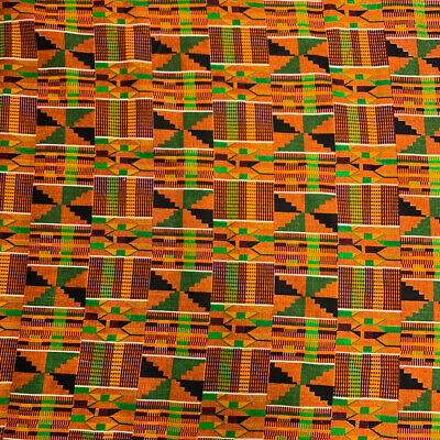 Kente African Print Fabric 100 Cotton 44 wide sold by the yard 90195-1