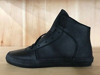 SUPRA CUTTLER BLACK WAXED SUEDE BLACK CASUAL SHOES MENS SIZE 8  S35042