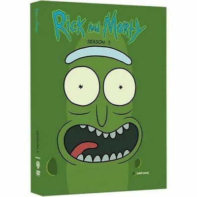 Rick and Morty Season 3 THREE THIRD Complete DVDBRAND NEW SEALED