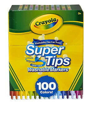 Crayola Super Tips Washable Markers 100 Assorted Colors Set of 100