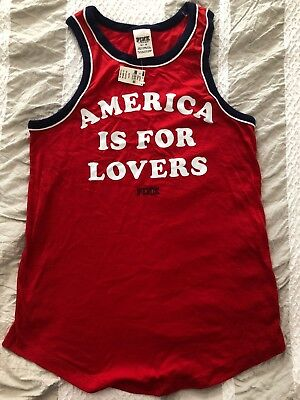 Victorias Secret America Is For Lovers Fourth Of July Shirt NWT