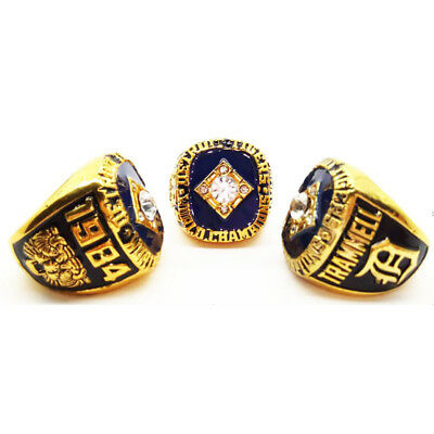 1984 Detroit Tigers Championship Ring Alan Trammell World Series Size 11