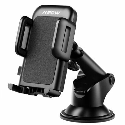 Mpow Universal Cell Phone GPS Car Windshield Dash Mount Holder Cradle Stander
