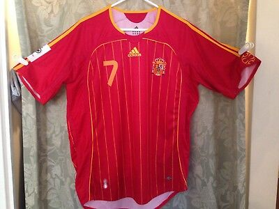 Spain World Cup 2006 Adidas Replica Football Soccer Jersey Raul Mens XL