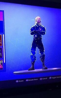 Rare Fortnite GALAXY SKIN PS4  PC Acc with Ghoul Trooper Skull Trooper Rare