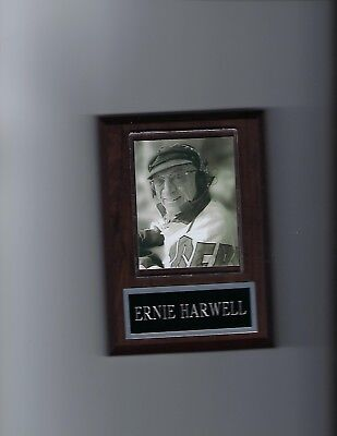 ERNIE HARWELL PLAQUE BASEBALL DETROIT TIGERS MLB BROADCASTER
