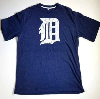 MLB Genuine Merchandise Detroit Tigers T-Shirt Mens XL Light Blue Baseball