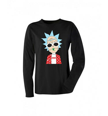 NEW RICK AND MORTY WITH GLASSES COOL STYLE HIP HOP Style Long Sleeve Shirt
