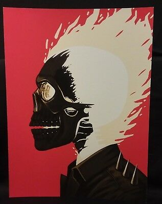 Mike Mitchell Mondo Marvel GHOST RIDER Portrait Print Giclee Proof
