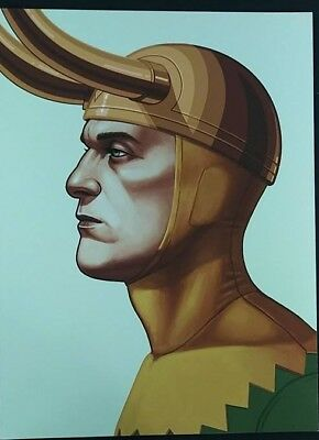 Mike Mitchell Mondo Marvel LOKI Portrait Print Giclee Proof