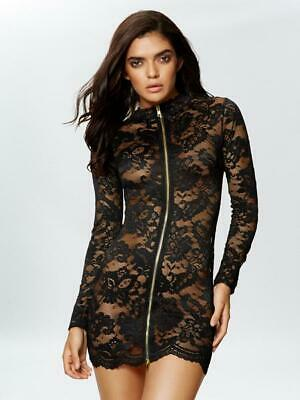 ANN SUMMERS WOMENS BLAIRE DRESS SEXY FULL LENGTH ZIP HIGH NECK LONG SLEEVE