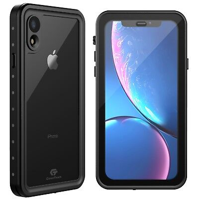 For Apple iPhone XR Xs Max X Life Waterproof Shockproof Case w Screen Protector