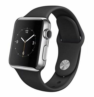 Apple Watch 1st Gen 42mm Stainless Steel SS Space Black - Black Sport Band