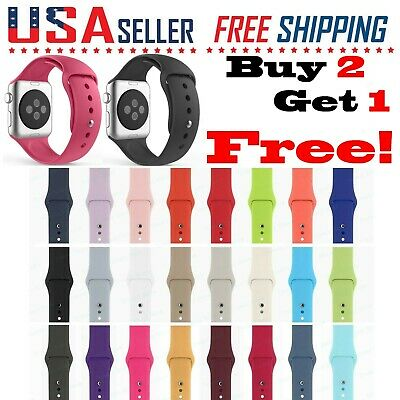 Silicone Band Strap Apple Watch Sports iWatch Series 54321 44424038mm