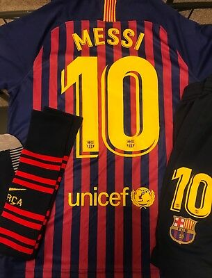 2018-2019 Lionel Messi FC Barcelona Shirt Kit Size Small or Medium
