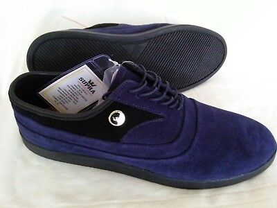 Mens NEW SUPRA Skateboard Shoes Size 11 JIM GRECO Casual Dress Blue Suede Laces