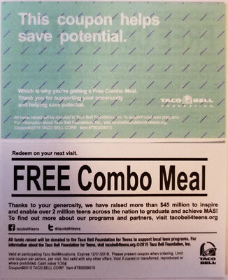 6 Taco Bell Free Combo Meal
