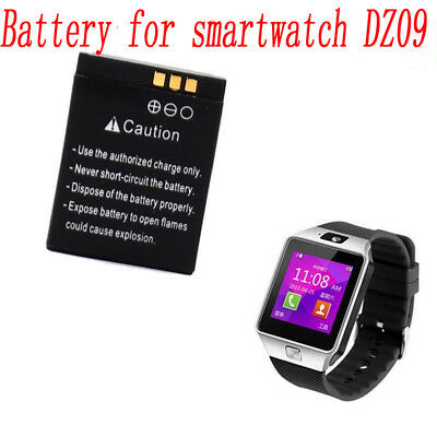 2pc Genuine Rechargeable Li-ion Polymer Battery 380mAh 3-7V For DZ09 Smart Watch