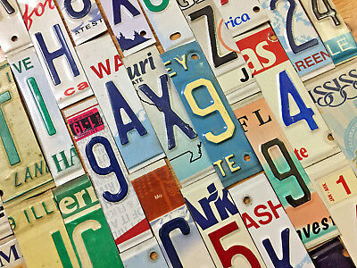 RaisedEmbossed License Plate Letters and Numbers for Signs and Arts and Crafts