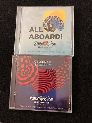 Eurovision Song Contest Official CD X 2 Double Albums - 2017 and 2018
