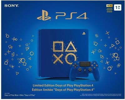 Brand New Sony PlayStation 4 1TB Limited Edition Days of Play Console Bundle