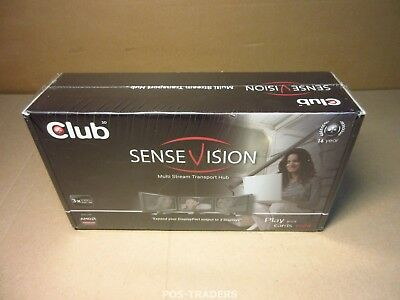 CLUB3D CSV-5300 Multi Stream Transport MST DisplayPort 1.2 Triple Monitor NEW