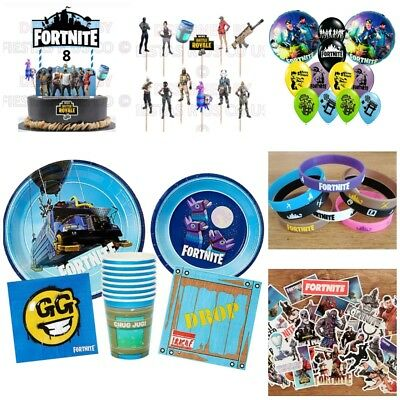 Fortnite Party Supplies  Cups Plates Napkins Balloons Cupcake Toppers Favors