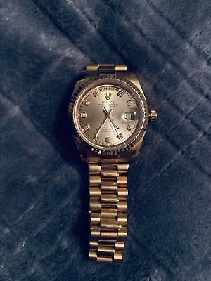 Mens Rolex Day-Date 1803 President 18K Yellow Gold Diamond Dial Oyster Clasp
