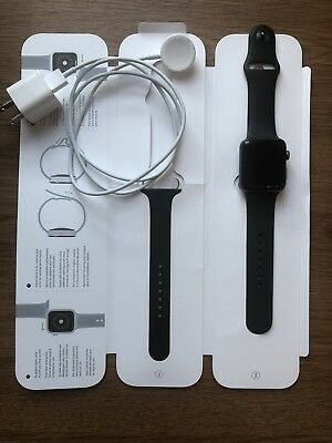 Apple Watch Series 2 42mm Aluminum Case Black Sport Band - MP062LLA