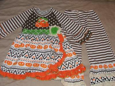 TUTU AND LULU GIRLS BOUTIQUE THANKSGIVING OUTFIT SIZE 5-6 5T 6 NWOTS