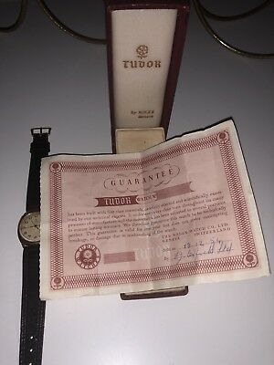 vintage rolex tudor watch - Gold Case - Not Worn And Boxed-