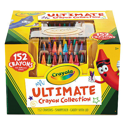 Crayola Ultimate Crayon Case Sharpener Caddy 152 Colors 520030